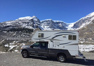 BC Canada rv rental vacation camper in mountain pass photo